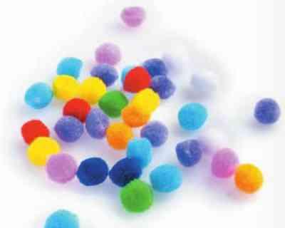 Ozdoba Dekoracyjna Pompony Kolorowe Mini 100 Szt śr Ok 1 Cm